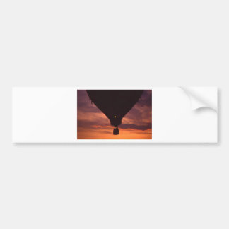 Balloon Silhouette Against Sunset .jpg Bumper Sticker