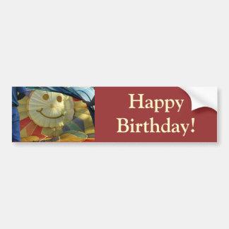 Balloon Smiley Face, Happy Birthday! Bumper Sticker