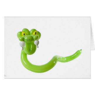 Balloon snake card