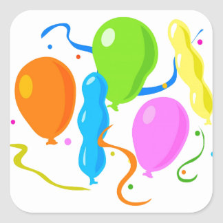 Balloon Stickers and Envelope Seals