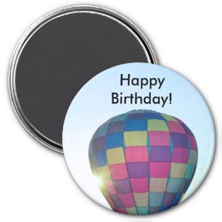 Balloon Sun burst Happy Birthday! Fridge Magnets
