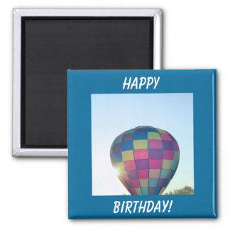 Balloon Sun burst Happy Birthday! Fridge Magnet