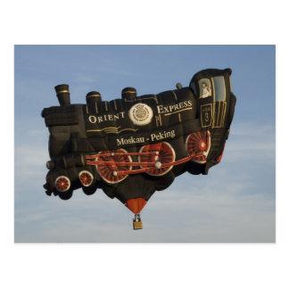 Balloon Take a Train Postcard