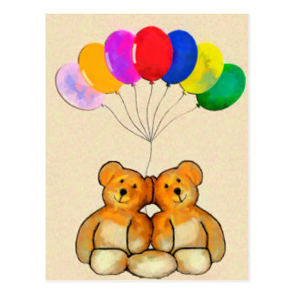 Balloon Teds Postcard