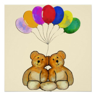 Balloon Teds Poster