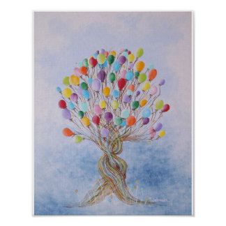 Balloon Tree Children's Poster