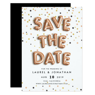 Balloon Type | Save the Date Card