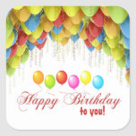 Balloon Wow Birthday Stickers