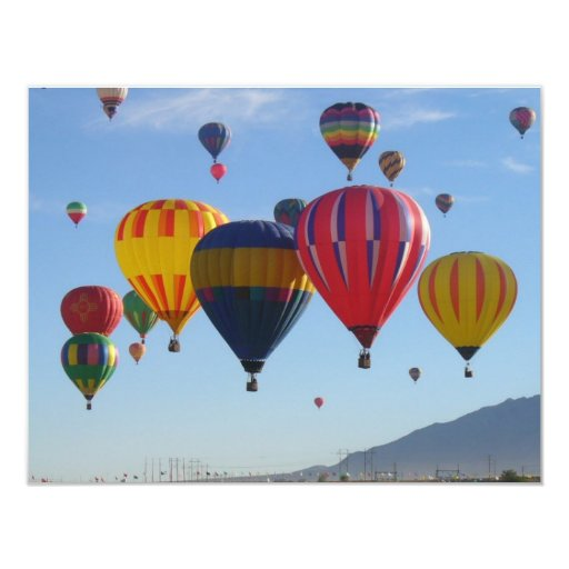 Ballooning 11 Cm X 14 Cm Invitation Card