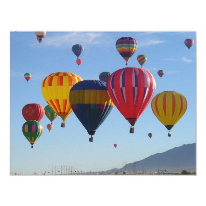 Ballooning 11 Cm X 14 Cm Invitation Card