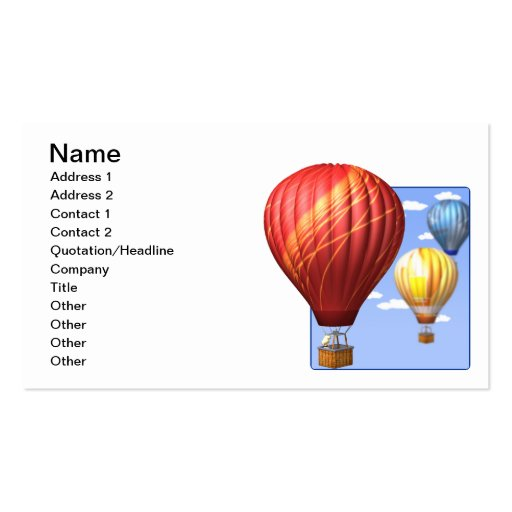 Ballooning 2 business cards