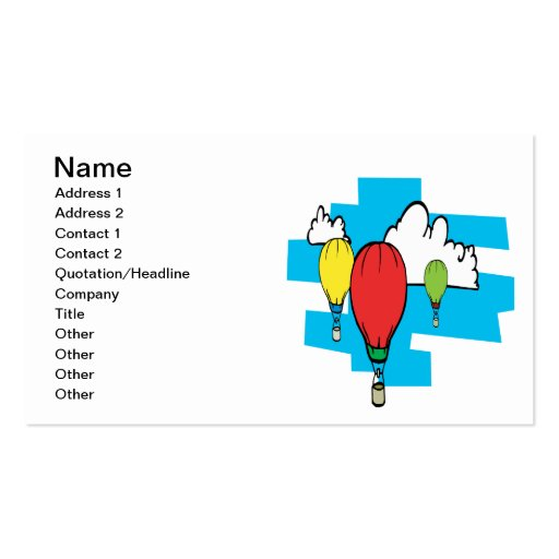 Ballooning 3 business card templates