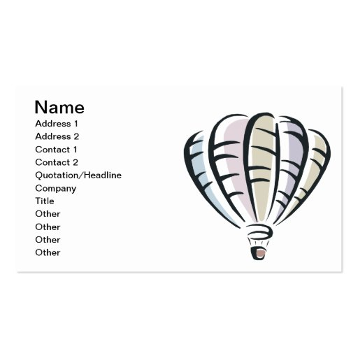 Ballooning 4 business card templates