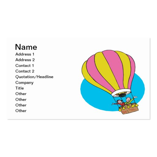 Ballooning Couple Business Cards