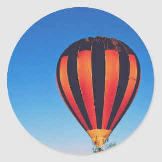 Ballooning in the outback round sticker