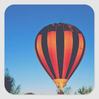 Ballooning in the outback square sticker