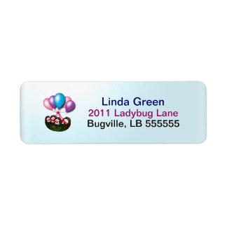 Ballooning Ladybug Labels