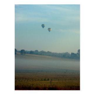 Ballooning Over Camden Postcard