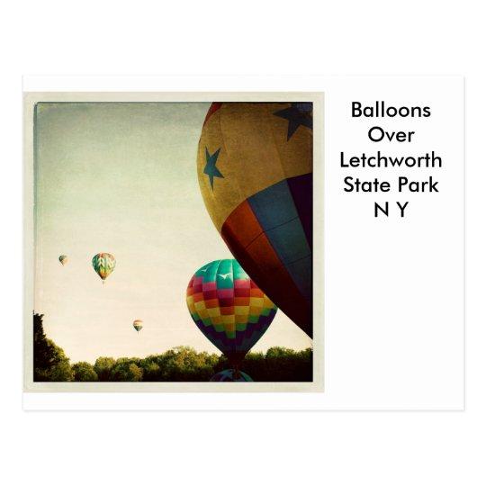 Ballooning Over Letchworth Postcard