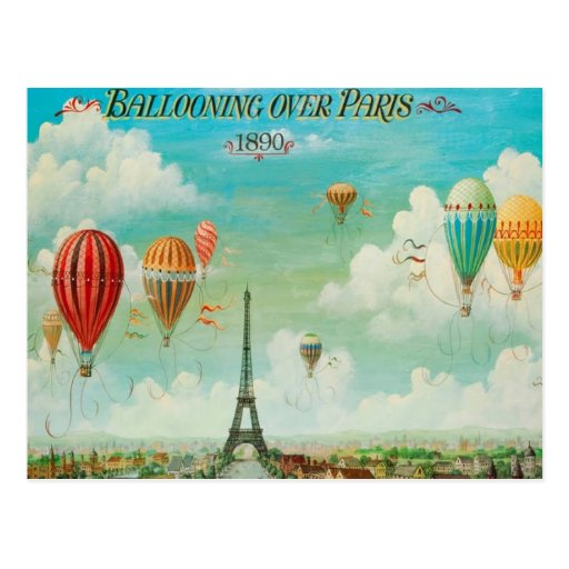 Ballooning Over Paris Post Cards