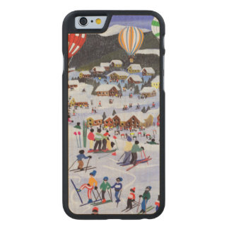 Ballooning over the piste 1995 carved® maple iPhone 6 slim case