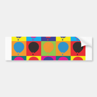 Ballooning Pop Art Bumper Sticker
