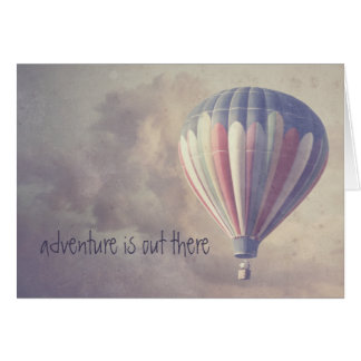 Ballooning Retro Sky Vintage Hot Air Balloon Card