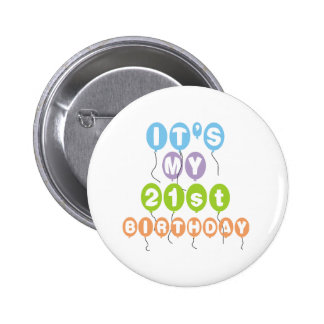 Balloons 21st Birthday 6 Cm Round Badge