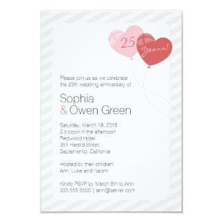 "Balloons 3.5"" x 5"" Wedding Anniversary Invitation"