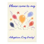 Balloons  Adoption Day Party invitation