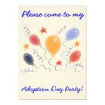 Balloons  Adoption Day Party invitation 13 Cm X 18 Cm Invitation Card