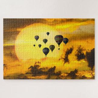 Balloons Against the Sun Jigsaw Puzzle