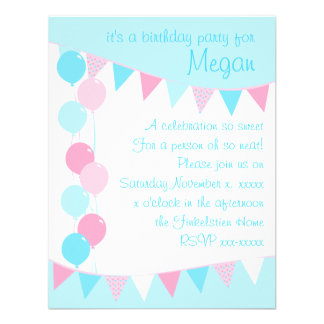 Balloons and Banners Custom Invitations