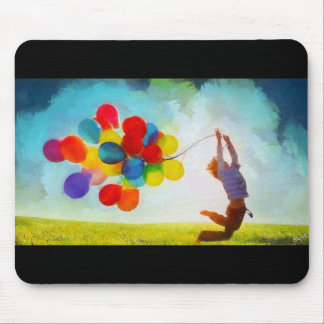 Balloons and boy mouse pad