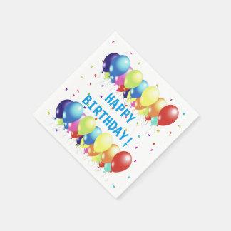 Balloons and Confetti Celebration Paper Napkins