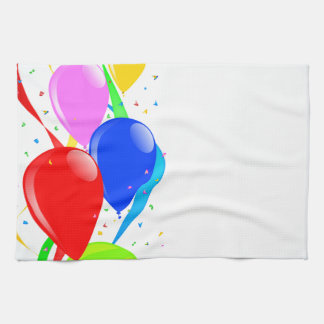 Balloons and Confetti Party Hand Towels