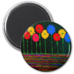 Balloons and Flowers 6 Cm Round Magnet