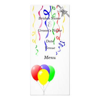 Balloons And Ribbons Wedding Card