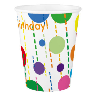 Balloons and Streamers Paper Party Cup