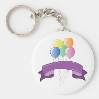 Balloons Basic Round Button Key Ring