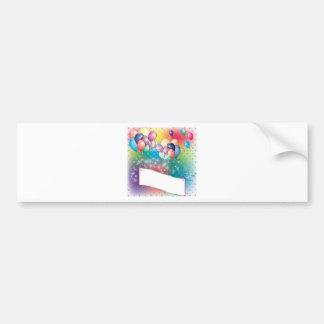 Balloons Birthday Party Invitation Cards Bumper Sticker