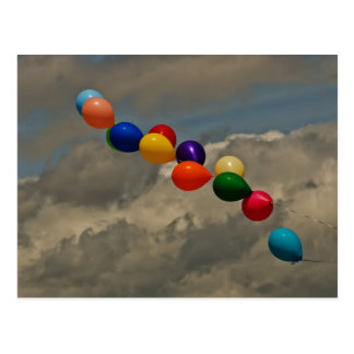 Balloons Blowing in the Wind Postcard