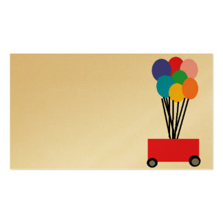 balloons business card template