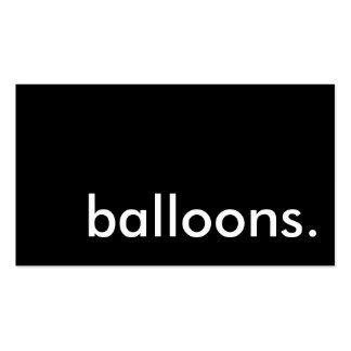 balloons business card templates