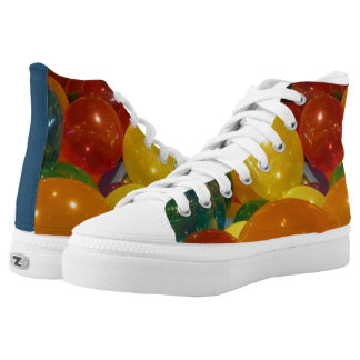 Balloons Colorful Party Design High Tops