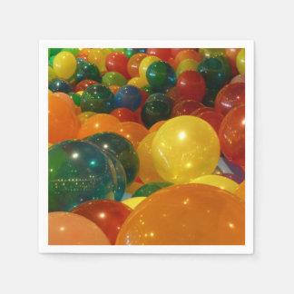 Balloons Colorful Party Design Paper Serviettes