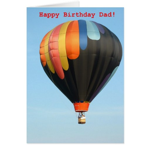 Balloons, happy birthday dad! greeting cards