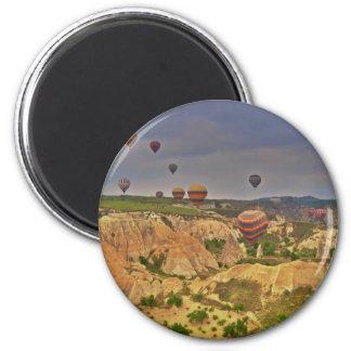 Balloons in Cappadocia 6 Cm Round Magnet