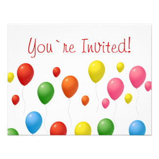 Balloons Custom Invitation