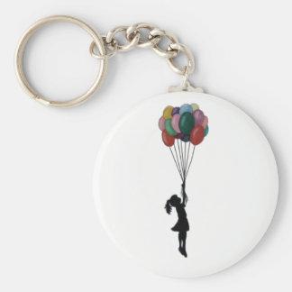 Balloons Keyring Basic Round Button Key Ring